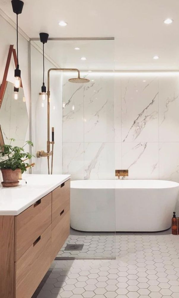 Home Interior Farmhouse In 2020 Bathroom Interior Design Stylish Bathroom Bathroom Interior