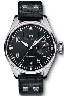 IWC Platinum Big Pilot.  Not the more accessible Stainless Steel version; however, the Platinum is valued over $30K and worn by John Mayer in the Making of 'Bittersweet' Video with Kanye West.
