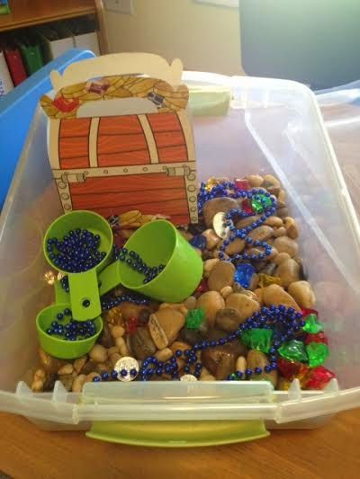 The Next Chapter in my Speech World: Speech and Language Pirate Sensory Bin