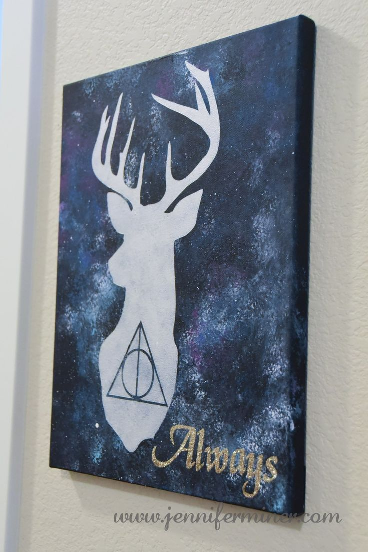 Harry Potter inspired art for our upcoming Harry Party Birthday Party. Features the Deathly Hallows and Harry's Patronus.