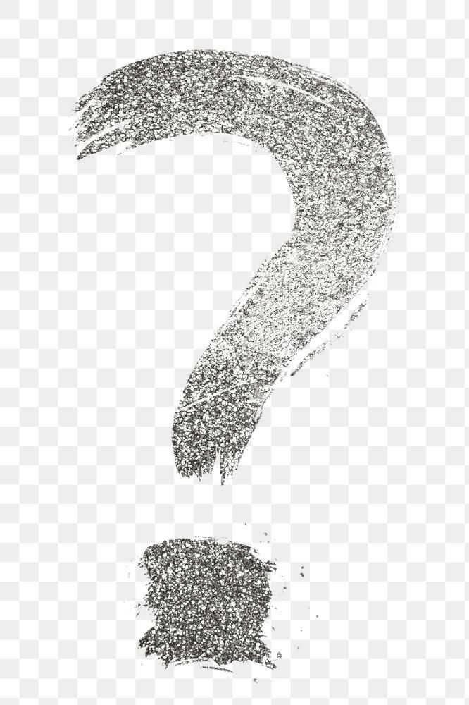 Silver Glitter Question Mark Png Brush Stroke Font Free Image By Rawpixel Com Hein Brush Stroke Font Brush Strokes Png