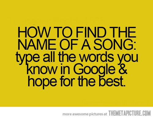 how to find the name of a song