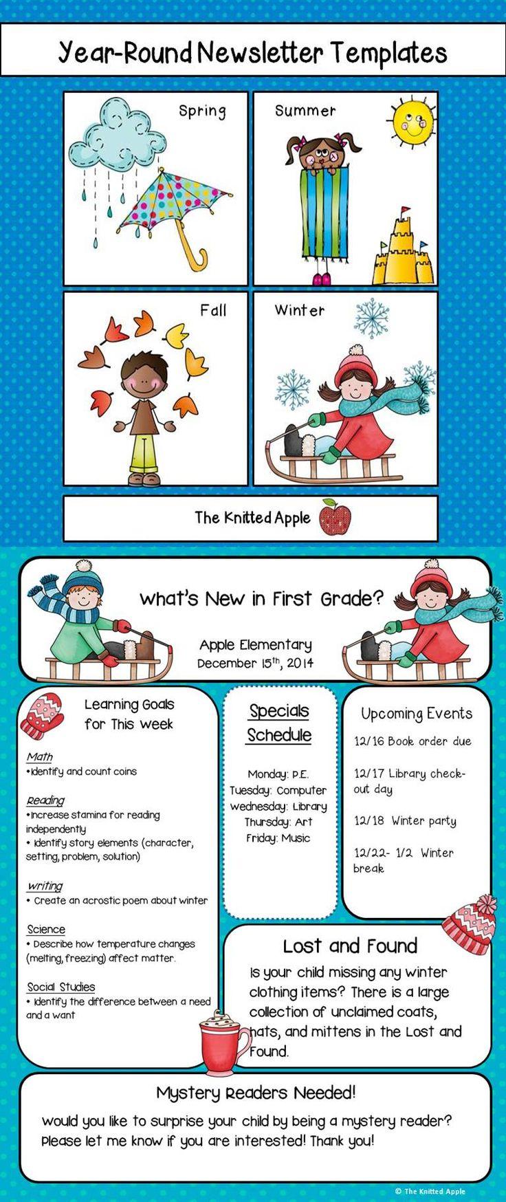 education newsletter templates