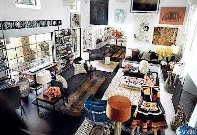 Artful display: Mario Testino, Spaces, Houses, Living Rooms, Natalia Vodianova, The Angel, Interiors Design, Mariotestino, Homes