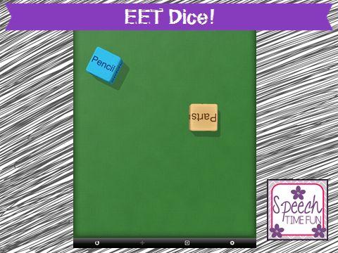 Speech Time Fun: EET Dice! (iPad fun!)