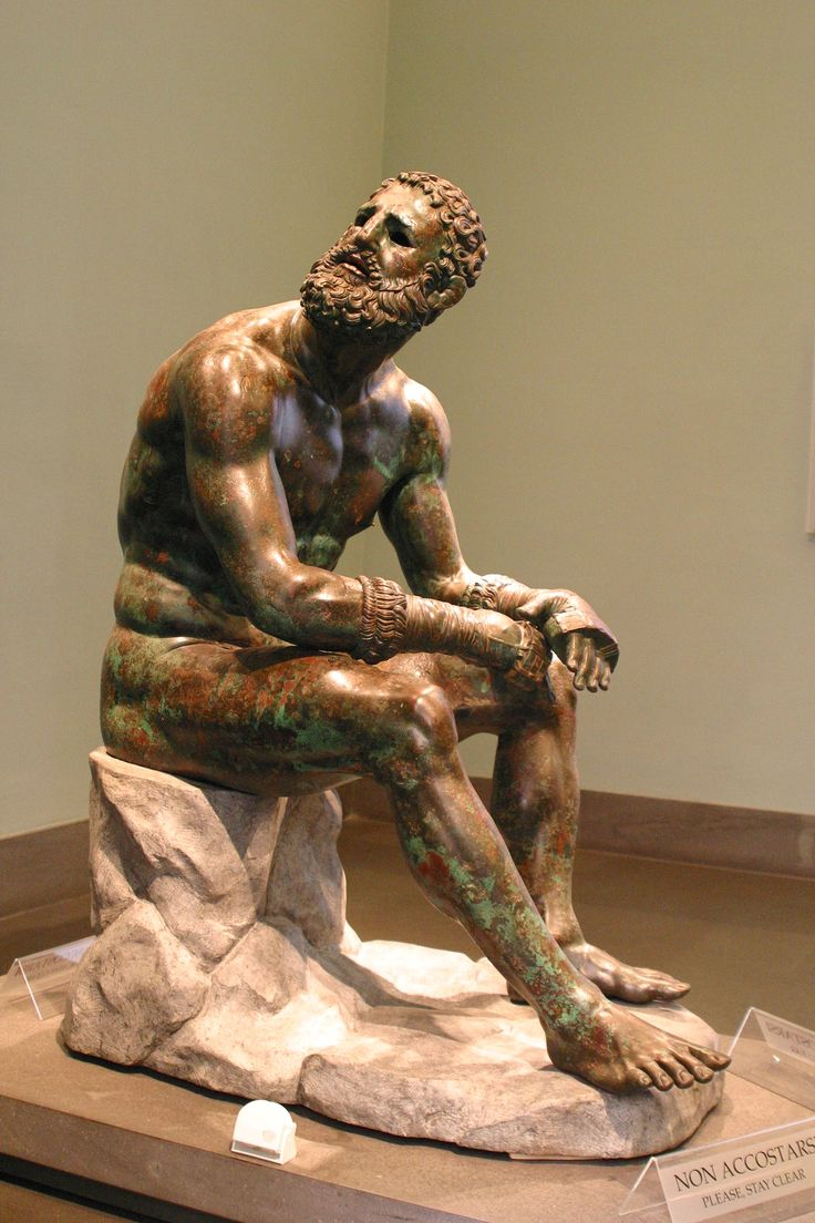 'The Seated Boxer Helenistic sculpture' | Greek/ Roman ...