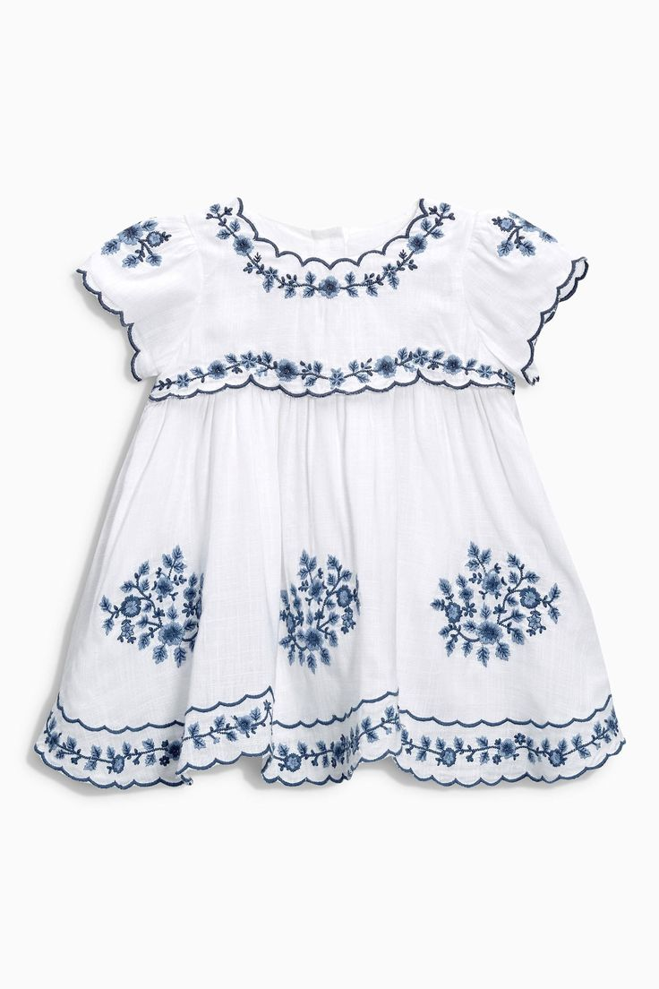 Cotton Embroidered Baby Blouse (0mths-2yrs) | Next USA