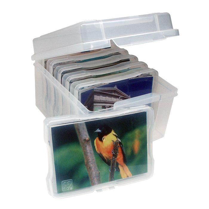 Photo Box Storage Organizer Bo