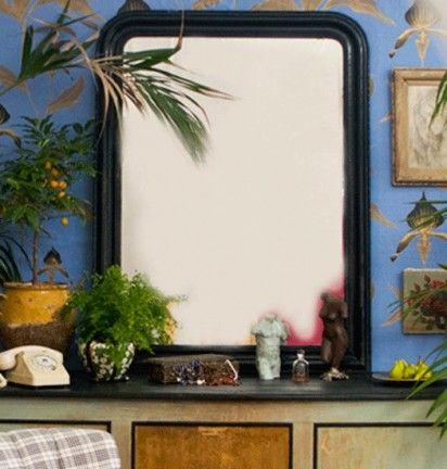 Grand miroir noir Louis-Philippe  Vintage Furniture & Objects  Pint ...