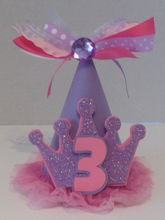 Sofia the First Party Hat Sofia the 1st by PSKreativeKreations, $15.00