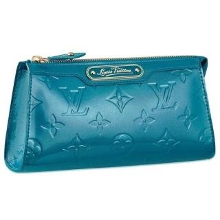 Louis Vuitton Monogram Vernis Cosmetic Pouch Galactic Blue M93650