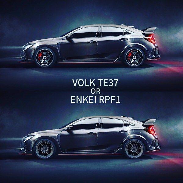Lowered on Volk TE37 or Enkei RPF1?  #fontmotorsports #honda #civic #typer #hondacivic #hondacivictyper #civictyper #type_r #typeR #honda #hatchback #hondatypeR #hothatch #JDM #enkei #rpf1 #enkeirpf1 #volk #volkracing #volkte37 #volkracingte37 #dropped #lowered