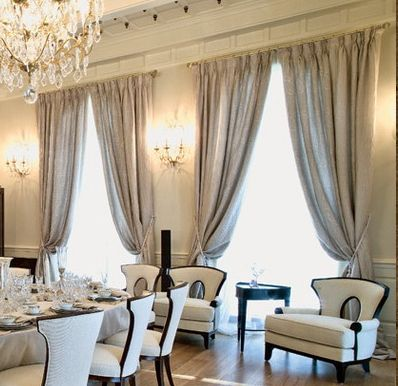 elegant drapes and curtains window treatment ideas pinterest search love the and dining. Black Bedroom Furniture Sets. Home Design Ideas