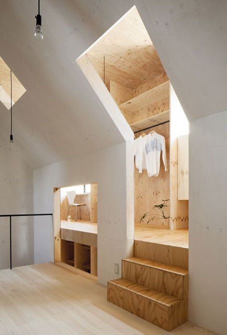 Playwood interior by the Japanese studio mA-style architects