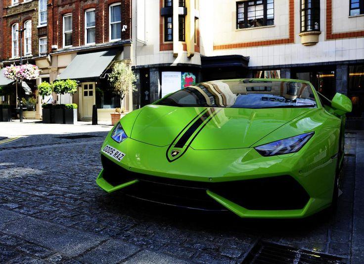 """topvehicles: """"A very green Lamborghini Huracan by Szymeq23 """""""