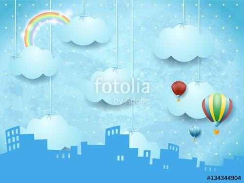 New!!!  #surreal #fantasy #landscape #skyline #urban #city #fairy https://us.fotolia.com/id/134344904