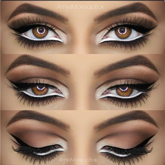 this intense eye look will turn heads stacking white and black eyeliner fierce feline for halloween - Eyeshadow For Halloween
