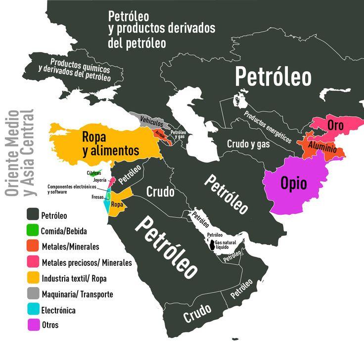 ¿Qué es lo que más exportan Rusia, España, Argentina, India o EE.UU.? Un mapamundi muestra cuáles son los productos clave de cada país a nivel global.