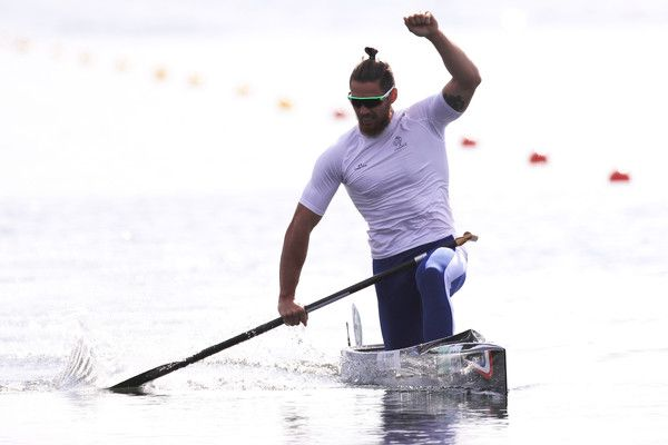 Adrien Bart of France competes during the Men's Canoe Single 1000m Final B on Day 11 of the Rio 2016 Olympic Games at the Lagoa Stadium on August 16, 2016 in Rio de Janeiro, Brazil.