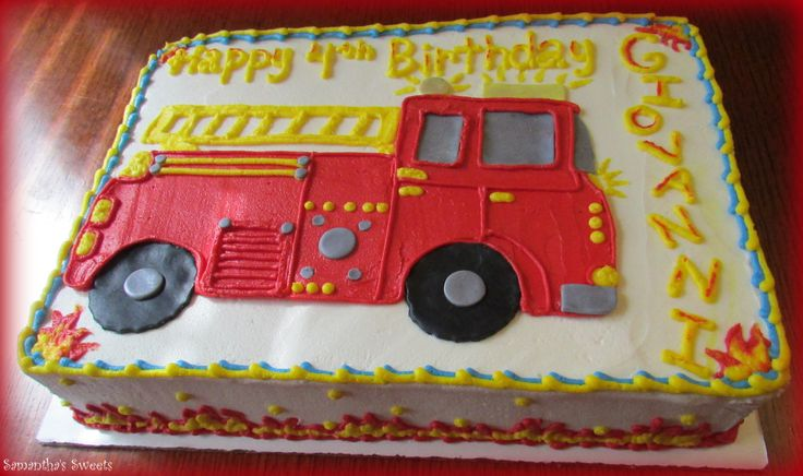 Fire Truck Cake Design : 17 Best images about Birthday cakes on Pinterest ...