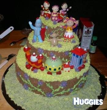 17 best images about cakes for athena 39 s 2nd birthday on for In the night garden cakes designs
