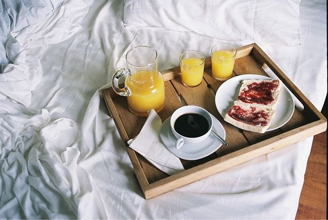 34. Have someone I love make me breakfast in bed..and I guess that means I should return the favor lol