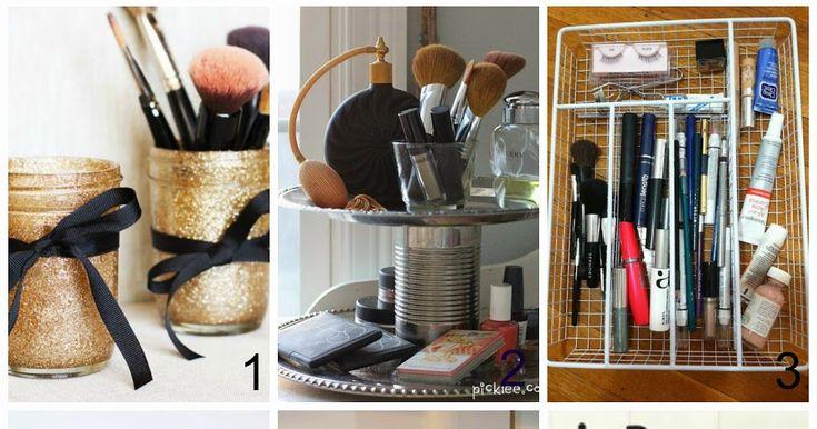 Come tenere in ordine i cosmetici. Riorganizzare il makeup a costo zero