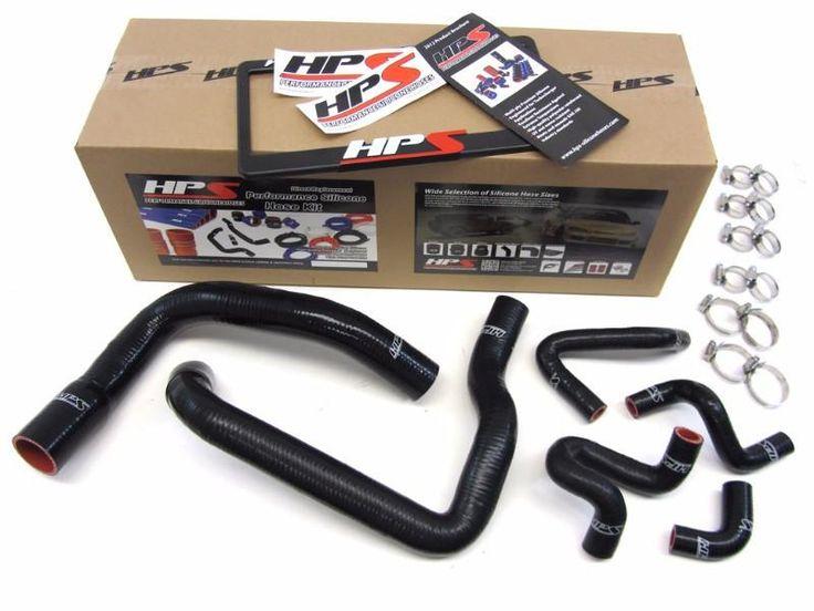 HPS Black Silicone Radiator+Heater Hose Kit for Ford 86-93 Mustang GT/Cobra