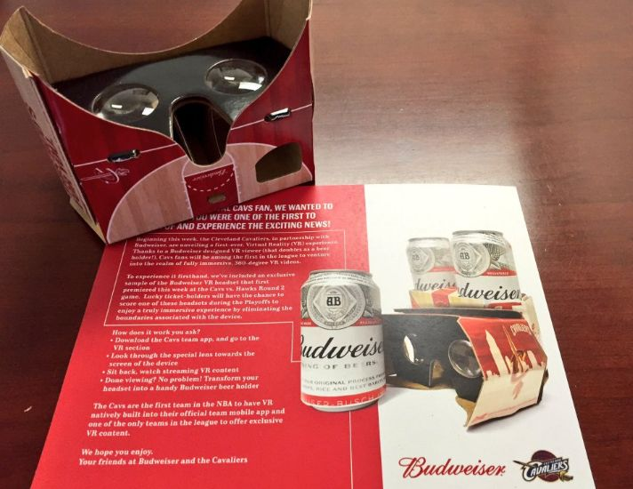 The Cleveland Cavaliers And Budweiser Partnered On An Interesting Virtual Reality Experiment and more teams will likely follow their lead.