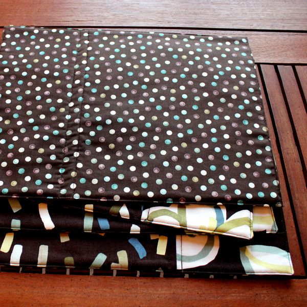 Coasters – Fabric Placemats - Eclectic Style - Set of 4 – a unique product by PatchworkArts on DaWanda