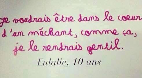 Eulalie, 10 ans.