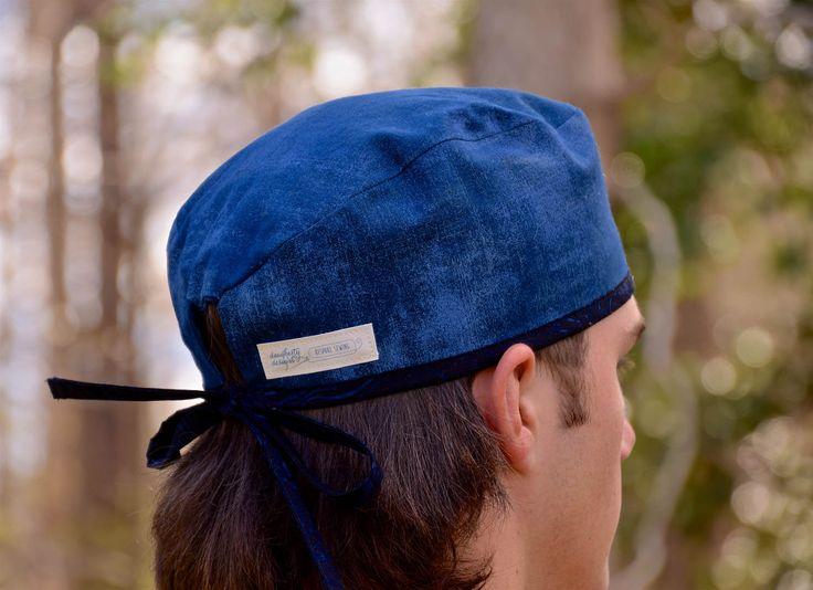 Scrub hat, Scrub hat for men, adjustable tie scrub hat, scrub cap, surgical scrub hat, daughertydesigns4you by daughertydesigns4you on Etsy