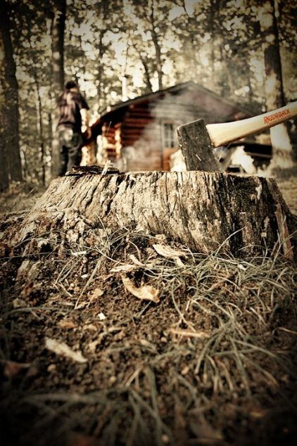 Get as close to the nature as possible: Make your own wood #axe