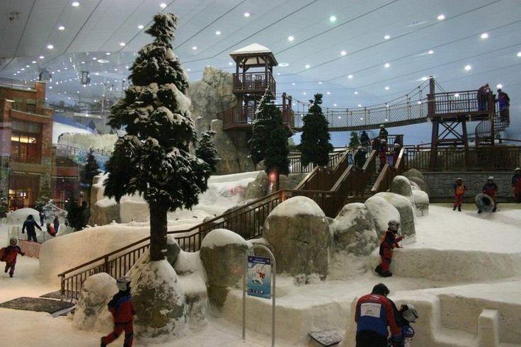 Winter wonderland in the Dubai sandpit