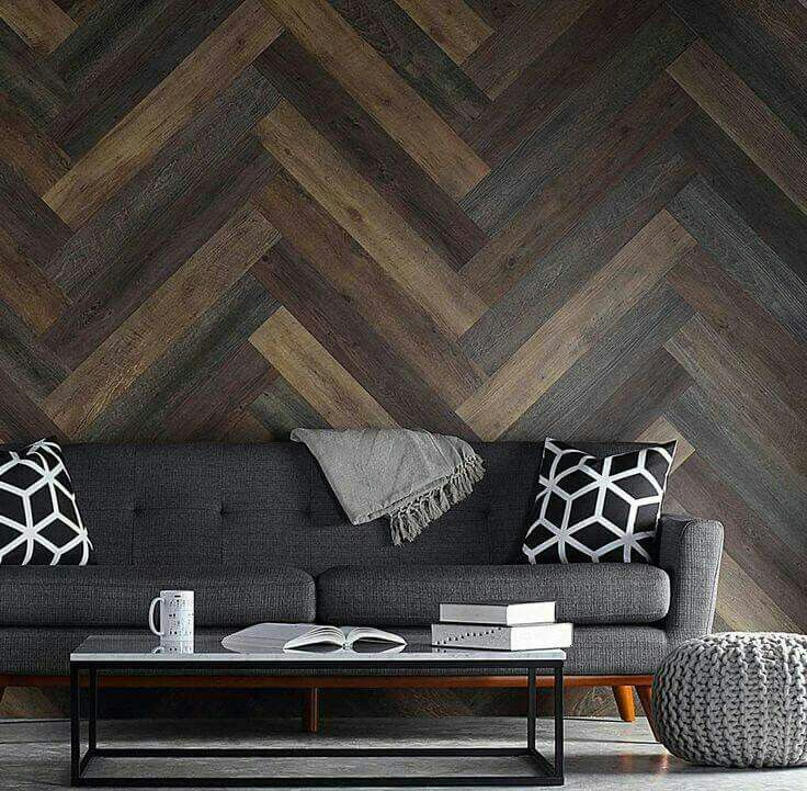 how to make a wood plank wall