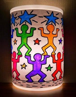 Keith Haring Inspired Night Light | Library Arts