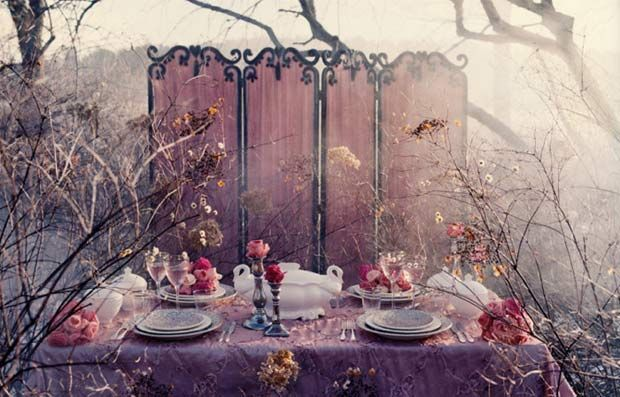 Misty pink tableau - table setting by Denise Griinstein