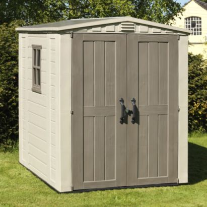 keter 6x6 factor plastic garden shed home delivered 7290103664930