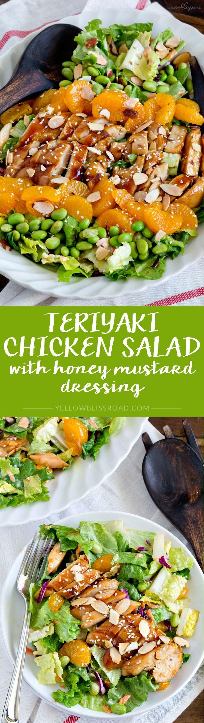 Teriyaki Chicken Salad with Honey Mustard Dressing - Red Robin Banzai Salad Copycat