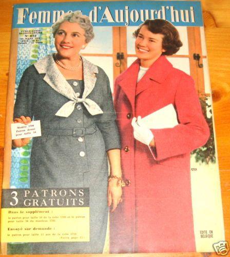 Femmes D 39 Aujourd 39 Hui N 672 Du 20 Mars 1958 Avec Patron Magazine Covers 2 Pinterest D