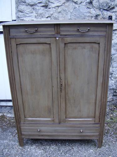Antique French 2 Door Cupboard -Lingère -(Laundry/Linen Cupboard) | eBay