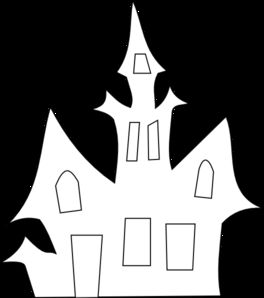 Scary House Silhouette clip art