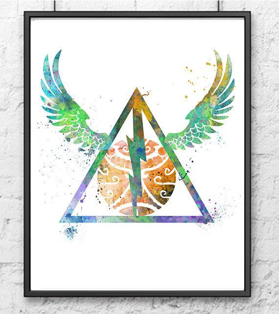 Harry Potter Watercolor Print Always Art by gingerkidsart on Etsy