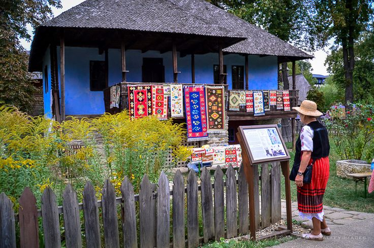 Rugs I love.  Shown here on the exterior, at the Bucuresti Village Museum.