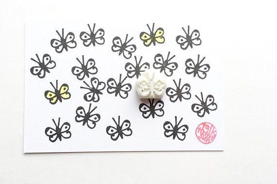 selo borboleta borracha, selo inseto, esculpidas à mão carimbo de borracha, selo planejador floresta, diy chá de bebê cartão de aniversário de casamento, artesanato primavera