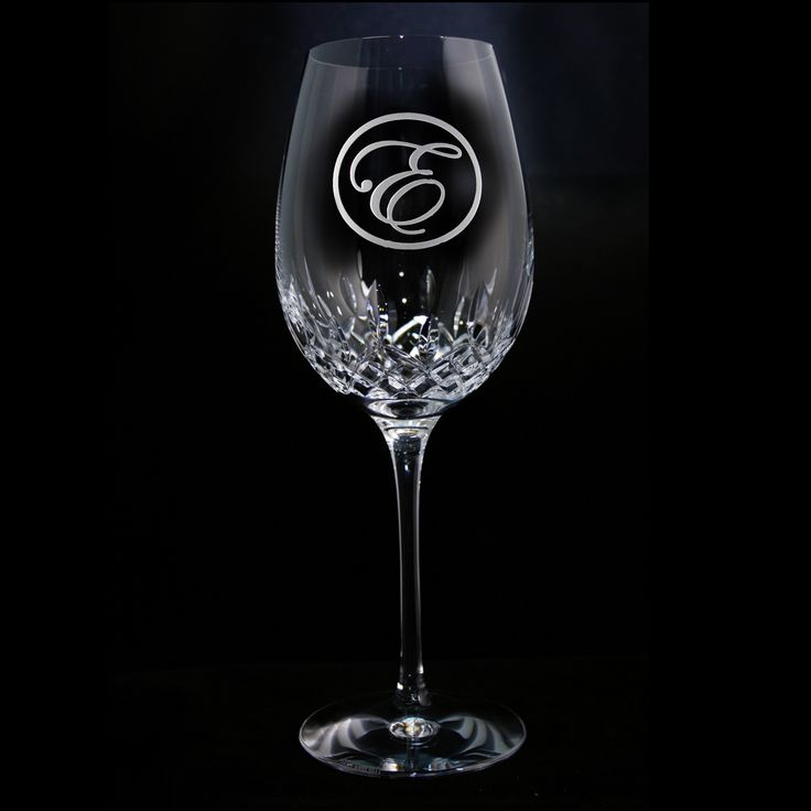 Engraved Waterford Wine Glass, Crystal Lismore Essence Red Wine Goblet