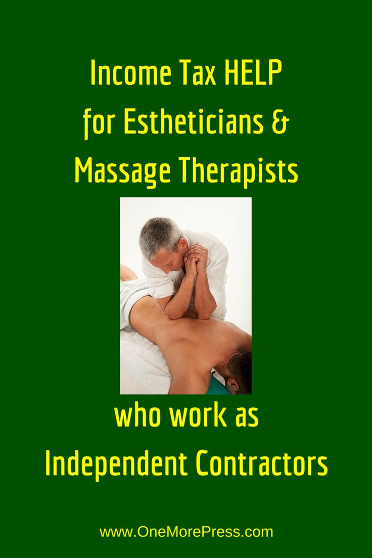 Income Tax HELP for Estheticians & Massage Therapists who work as Independent Contractors. Click to read about four ways to reduce taxes. #esthetician #massagetherapist www.OneMorePress.com