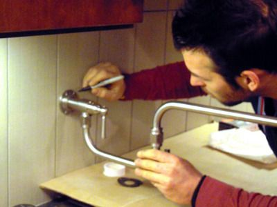 How to install a pot filler faucet