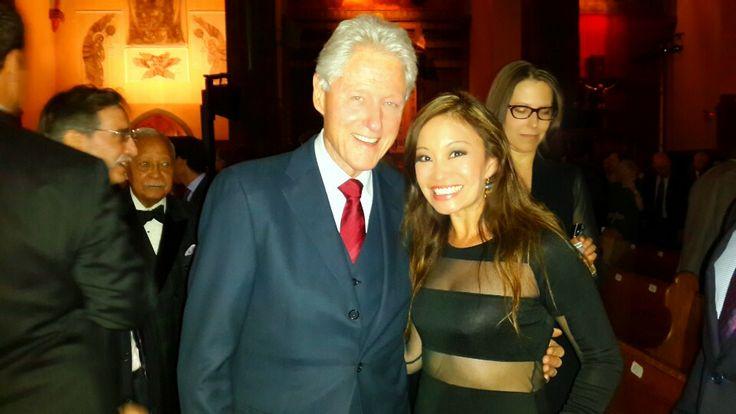 Former US President Bill Clinton at the Nelson Mandela Tribute Gala New York City 2014.