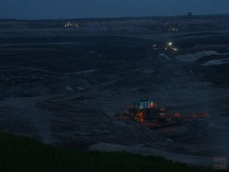 Coal mining near Neukieritzsch, Germany